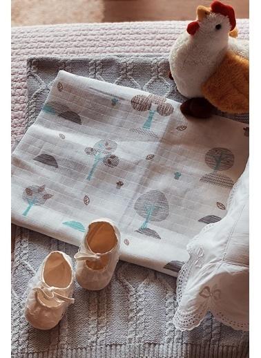 Arma Baby's Mavi Orman Müslin Battaniye 100*120 Mavi